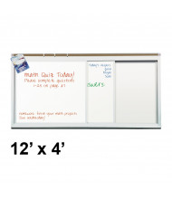 Best-Rite 822HM 2 Track/2 Panel 12 ft. x 4 ft. Horizontal Sliding Porcelain Whiteboard