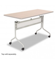 "Safco 2031SL Impromptu Mobile Silver Base for 60"" W and 72"" W Flip-Top Training Tables (Tabletop Sold Separately)"