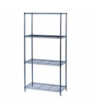 "Safco 5276BL 36"" W x 18"" D x 72"" H 4-Shelf Commercial Wire Shelving"