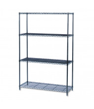 "Safco 5291BL 48"" W x 18"" D x 72"" H 4-Shelf Industrial Wire Shelving Unit"