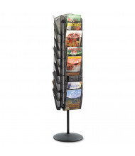 "Safco Onyx 66"" 30-Compartment Mesh Rotating Magazine Display"