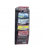 "Safco Onyx 28"" H 5-Compartment Mesh Literature Rack"