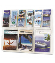"""Safco Reveal 23"""" H 9-Compartment Clear Literature Display"""