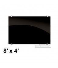 Best-Rite 84065 Visionary Black 8 ft. x 4 ft. Magnetic Glass Whiteboard