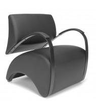 OFM Recoil 841-PU606 Anti-Microbial Vinyl Club Chair, Black
