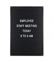 Mooreco Essentials 1' x 1.5' Pin-On Letter Board, Black