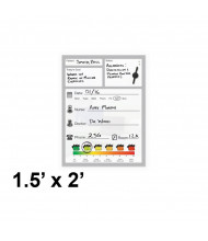 Best-Rite 1.5 x 2 Doctors Office Patient Magnetic Glass Whiteboard