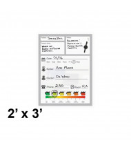 Best-Rite 2 x 3 Doctor's Office Patient Magnetic Glass Whiteboard