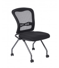 Office Star 2-Pack Deluxe ProGrid Mesh-Back Fabric Nesting Guest Chair (Model 84220-30)