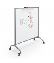 Best-Rite 84220 Glider Porcelain 4 x 4 Aluminum Trim Mobile Whiteboard