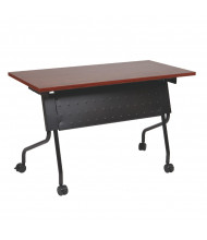 """Office Star 84225 60"""" W x 24"""" D Nesting Training Table (Shown in Cherry Top/Black Legs)"""