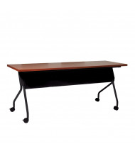 "Office Star 84226 72"" W x 24"" D Nesting Training Table (Cherry Top/Black Legs)"