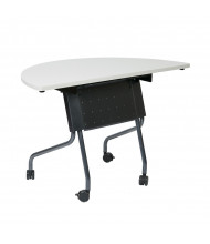 "Office Star 842HR24 48"" W x 24"" D Half-Round Nesting Training Table (Shown with Grey Top/Black Legs)"