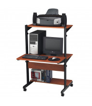 "Mayline Soho 8432SO 14"" - 48"" H Pin Height Adjustable Mobile Computer Desk"