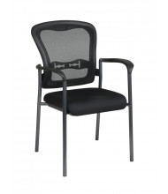Office Star ProGrid Mesh-Back Fabric Mid-Back Stacking Guest Chair (Model 84510-30)