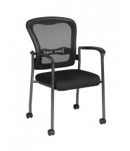 Office Star ProGrid Mesh-Back Fabric Mid-Back Stacking Guest Chair (Model 84540-30)