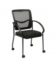 Office Star ProGrid Mesh-Back Fabric Mid-Back Guest Chair, Casters