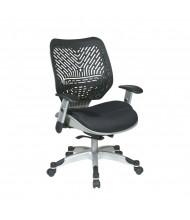 Office Star REVV Self Adjusting SpaceFlex Plastic-Back Mesh Mid-Back Managers Chair, Platinum Base (Shown in Black Back/Black Seat)