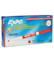 Expo Low-Odor Dry Erase Marker, Fine Point, Red, 12-Pack