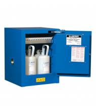 Just-Rite Sure-Grip EX 860428 Countertop Self Close One Door Hazardous Material Safety Cabinet, 4 Gallons, Royal Blue (