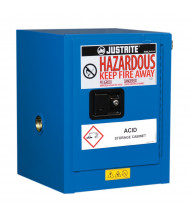 Just-Rite ChemCor 8604282 Countertop Self Close One Door Hazardous Material Safety Cabinet, 4 Gallons, Royal Blue