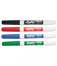 Expo Low-Odor Dry Erase Marker, Fine Point, Assorted, 4-Pack