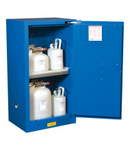 Just-Rite Sure-Grip EX 861528 Compac Self Close One Door Hazardous Material Safety Cabinet, 15 Gallons, Royal Blue