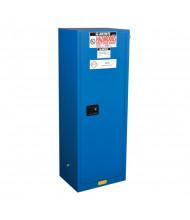 Just-Rite Sure-Grip EX 862228 Slimline Self Close One Door Hazardous Material Safety Cabinet, 22 Gallons, Royal Blue