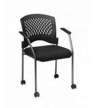 Office Star Wrap Around Plastic-Back Fabric Stacking Guest Chair (Model 8640-30)
