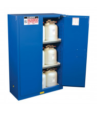 Just-Rite Sure-Grip EX 864528 Self Close Two Door Hazardous Material Safety Cabinet, 45 Gallons, Royal Blue