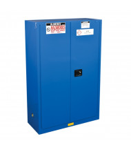 Just-Rite ChemCor 8645282 Self Close Two Door Hazardous Material Safety Cabinet, 45 Gallons, Royal Blue
