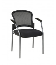 Office Star ProGrid Mesh-Back Fabric Stacking Guest Chair (Model 86710-30)
