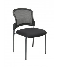 Office Star Straight Leg ProGrid Mesh-Back Fabric Stacking Guest Chair (Model 86724-30)