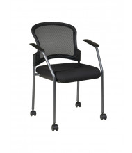 Office Star ProGrid Mesh-Back Fabric Stacking Guest Chair (Model 86740-30)