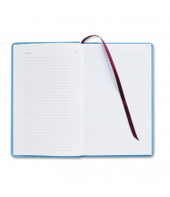 "Adams 7-1/2"" x 12"" 150-Page Record Ledger Book, Blue Cloth Cover"