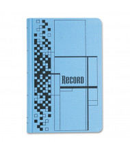 "Adams 7-1/2"" x 12"" 500-Page Record Ledger Book, Blue Cloth Cover"