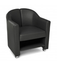 OFM Contour 880 Mobile Vinyl Club Chair with Shelf (in black)
