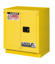 Justrite Fume Hood Self-Closing Flammable Storage Cabinet (Shown in Yellow)