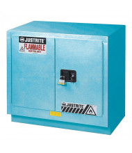 Justrite ChemCor Fume Hood Corrosive Chemical Storage Cabinets  (Shown in Blue, Padlock Not Included)