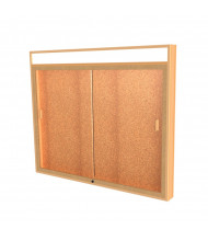 "Waddell Legacy 885 Series Lighted Header Display Case 50""W x 42""H x 4""D (Shown with Cork)"