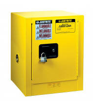 Justrite Sure-Grip EX Countertop 4 Gal Flammable Storage Cabinet (Shown in Yellow, Padlock Not Included)