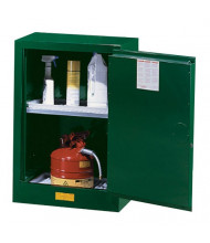 Just-Rite Sure-Grip EX 891204 Compac One Door Pesticides Safety Cabinet, 12 Gallons, Green