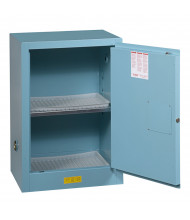 Just-Rite Sure-Grip EX 891222 Compac Self Close One Door Corrosives Acids Steel Safety Cabinet, 12 Gallons, Blue (manual closing door shown)
