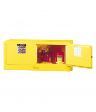 Justrite Sure-Grip EX Piggyback 12 Gal Flammable Storage Cabinet (Shown in Yellow, Safety Cans Not Included)