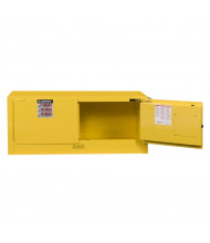 Justrite Sure-Grip EX Piggyback 12 Gal Self-Closing Flammable Storage Cabinet (Shown in Yellow)