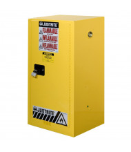 """Justrite Sure-Grip EX Compac 15 Gal Flammable Safety Storage Cabinet, 44"""" H (Shown in Yellow, padlock not included)"""