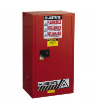 Justrite Sure-Grip EX 20 Gal Self-Closing Combustibles Storage Cabinet (Shown in Red, Padlock Not Included)