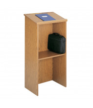 Safco Stand-Up Lectern, Medium Oak