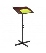 Safco Adjustable Presentation Speaker Stand, Mahogany