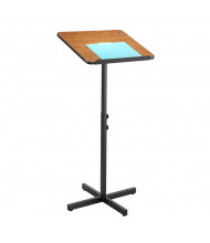 Safco Adjustable Presentation Speaker Stand (Shown in Medium Oak)